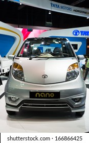 BANGKOK - NOVEMBER 28 : TATA nano on display at The 30th Thailand International Motor Expo 2013 in Bangkok, Thailand.
