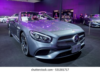 BANGKOK - November 30, 2016 : Mercedes-Benz car on display at Thailand International Motor Expo 2016, exhibition of vehicles for sale on November 30, 2016 in Bangkok, Thailand.