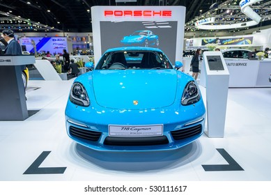 BANGKOK - November 30, 2016 : Porsche super car on display at Thailand International Motor Expo 2016, exhibition of vehicles for sale on November 30, 2016 in Bangkok, Thailand.