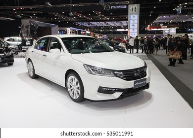 BANGKOK - November 30: Honda Accord car on display at Motor Expo 2016 on November 30, 2016 in Bangkok, Thailand.
