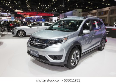 BANGKOK - November 30: Honda BR-V car on display at Motor Expo 2016 on November 30, 2016 in Bangkok, Thailand.