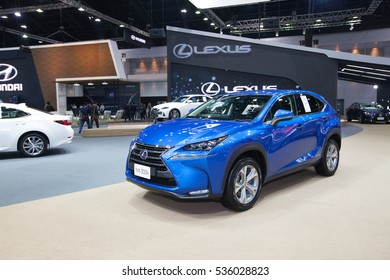 BANGKOK - November 30: Lexus NX 300h car on display at Motor Expo 2016 on November 30, 2016 in Bangkok, Thailand.