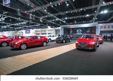 BANGKOK - November 30: Showroom of Mazda  car at Motor Expo 2016 on November 30, 2016 in Bangkok, Thailand.