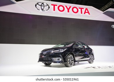 BANGKOK - November 30: Toyota Corolla Altis ESport car on display at Motor Expo 2016 on November 30, 2016 in Bangkok, Thailand.