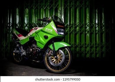 Bangkok, Oct 2018 : Kawasaki KR150se full modified by pk racing Charoenrat, Bangkok, Thailand. Brembo break & accessory and earl's system with DBS exhaust.