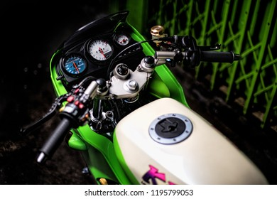 Bangkok, Oct 2018 : Kawasaki KR150se full modified by pk racing Charoenrat, Bangkok, Thailand. Brembo break & accessory and earl's system with DBS exhaust.