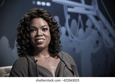 BANGKOK - OCT 28: A waxwork of Oprah Winfrey on display at Madame Tussauds on October 28, 2015 in Bangkok, Thailand. Madame Tussauds' newest branch hosts waxworks of numerous stars and celebrities.