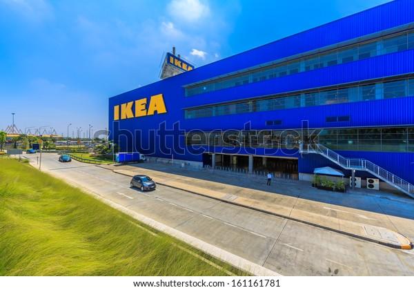 BANGKOK - OCTOBER 23: IKEA Bangkok Store on October 23, 2013 in Mega Bangna, Bangkok. Founded in Sweden in 1943, Ikea is the world's largest furniture retailer.