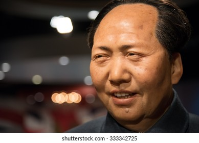 BANGKOK - OCTOBER 28: A waxwork of Mao Zedong on display at Madame Tussauds on October 28, 2015 in Bangkok, Thailand. Madame Tussauds' newest branch hosts waxworks of numerous stars and celebrities.