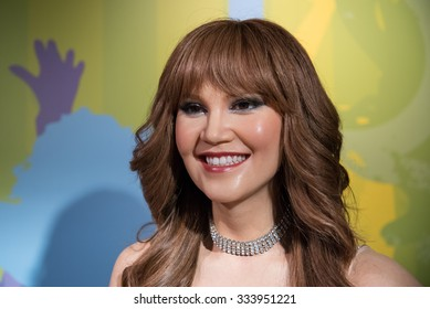 BANGKOK - OCTOBER 28: A waxwork of Tata Young on display at Madame Tussauds on October 28, 2015 in Bangkok, Thailand. Madame Tussauds' newest branch hosts waxworks of numerous stars and celebrities.