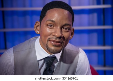 BANGKOK - OCTOBER 28: A waxwork of Will Smith on display at Madame Tussauds on October 28, 2015 in Bangkok, Thailand. Madame Tussauds' newest branch hosts waxworks of numerous stars and celebrities.