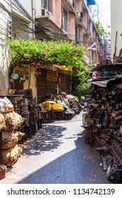 Bangkok old quarter near the Chinatown. Thailand.