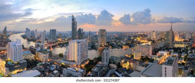 Bangkok panorama, cityscape Twilight view