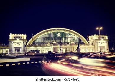 Bangkok Railway Station at Night