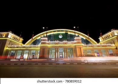 Bangkok Railway Station,Thailand. Evening light