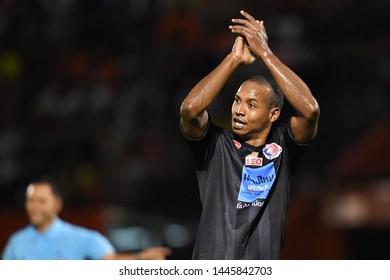 BANGKOK RATCHABURI-JULY 6:Josimar of Port Fc in action during Thai League 2019 between Port Fc and Ratchaburi Mitr Phol F.C. at Mitr Phol Stadium on July 6,2019 in Ratchaburi Thailand