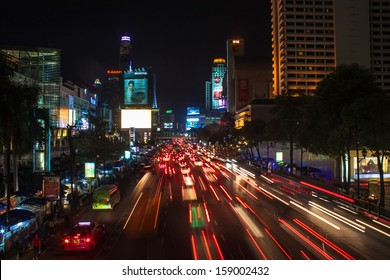 BANGKOK - SEPTEMBER 17: Traffic jam in city center on September 17, 2013 in Bangkok, Thailand. Annually an estimated 150,000 new cars join the heavily congested streets of the Thai capital.