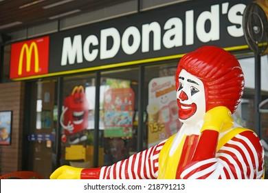BANGKOK - SEPTEMBER 22 :  ronald-mcdonald at  McDonald's restaurant on September 22, 2014 in Bangkok, Thailand