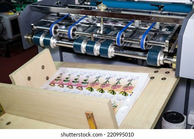 BANGKOK - SEPTEMBER 27 :Print media from printing  machines display at GASMA PRINT 2014 on Sep  27,2014 in BITEC ,Bangkok, Thailand.