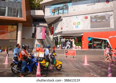 Bangkok, Siam Square, Thailand - January 4, 2016: The Style by Toyota, Hi-Tech Edutainment Center, education trough entertainment, a new intelligent building right in the heart of Siam Square