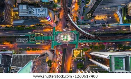 Bangkok skyline and skyscraper