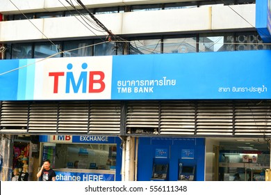 BANGKOK, TH - DEC. 14: TMB Bank facade on December 14, 2016 in Bangkok, Thailand.