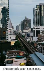 Bangkok, Thailan - May 13, 2017: View of Cityscape in Bangkok at twilight.