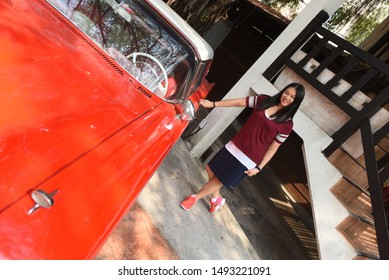 Bangkok Thailand 03/05/2017 old ford thunderbird