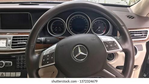 Bangkok Thailand 09/14/2018 : Mercedes Benz E300 Bluetec Hybrid
