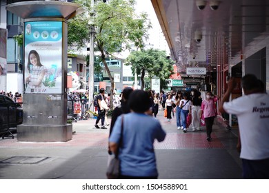 BANGKOK, THAILAND - 10 SEP, 2019: Unidentified tourists in Siam square area. Siam square is popular among teen and tourists. Siam Square is a shopping and entertainment area.