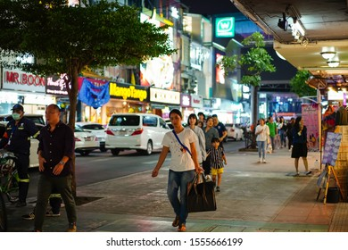 BANGKOK, THAILAND - 10/11/2019: Unidentified tourists are walking in Siam square area. Siam square is popular among teen and tourists.Siam square is a prosperous place in the Bangkok city.