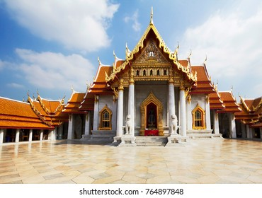 Bangkok, Thailand, 11/19/2014, Marble temple in Bangkok. This is one of the most beautiful temples in Bangkok.