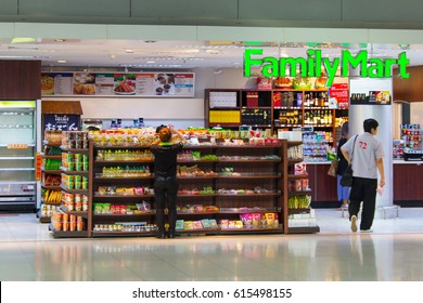BANGKOK, THAILAND - 12 SEPTEMBER, 2013: The Family Mart minimarket in the Suvarnabhumi Intl. Airport of Bangkok, Thailand