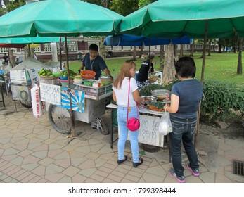 Bangkok, Thailand - 12.09.2019: Food vendors in Bagkok, Thailand.