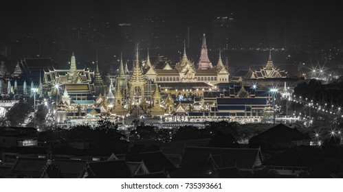BANGKOK, THAILAND - 13 OCT, 2017: The royal funeral pyre of King Bhumibol Adulyadej's at Sanam Luang Bangkok, Thailand