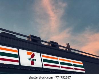 Bangkok Thailand 14 December 2017, 7-11 (seven-eleven) convenience store