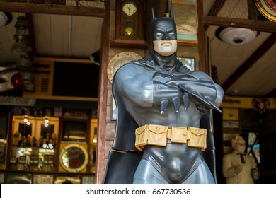 BANGKOK, THAILAND -15 JUNE 2017.batman stature at thailand
