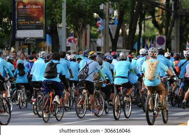 Bangkok, Thailand - 16 August 2015: Bike for Mom, event set by Thai Government to cerebrate birthday of Queen Sirikit. It is a bike cycling in every provinces in Thailand on 16 August 2015.