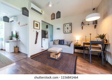 Bangkok, Thailand : 17 JUN 2015 - Modern Residence design with furniture and interior design setting before getting into the real estate market.