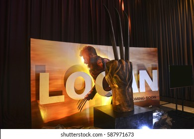Bangkok, Thailand - 18 February, 2017: Beautiful Standee of Logan or Wolverine Part 3