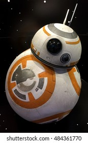 Bangkok, Thailand - 19 December, 2015: BB-8 Android Models at Central World Shopping Center.