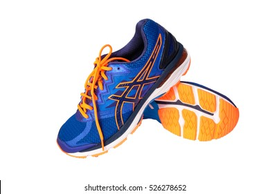 BANGKOK, THAILAND - 19 Nov 2016: ASICS Running Shoes GT-2000 isolated on white, ASICS is a Japanese multinational corporation athletic equipment company which produces footwear and sports equipment.