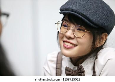 Bangkok, Thailand 20 August 2018 : CherPrang-BNK48 / Miss CherPrang Areekul