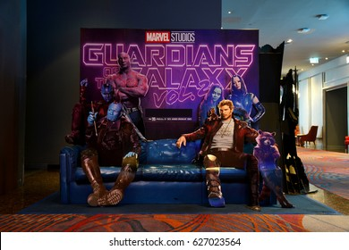 Bangkok, Thailand - 22 April 2017 - Beautiful Standee of Movie Guardians of the Galaxy Vol. 2 at the theater