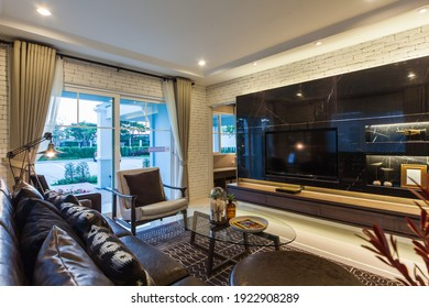 Bangkok, Thailand : 22 JAN 2016 - Modern Residence design with furniture and interior design setting before getting into the real estate market