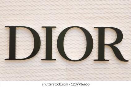Bangkok Thailand : 25 November 2018 Dior Thailand multinational clothing-retail company in icon siam at bangkok.