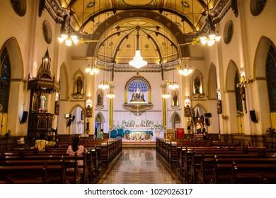 BANGKOK, THAILAND - 26 OCT 2017 - Christian church in Thailand