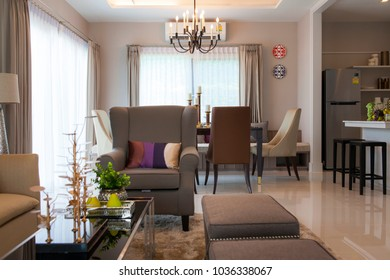 Bangkok, Thailand : 27 APR 2015 - Modern Residence design with furniture and interior design setting before getting into the real estate market.
