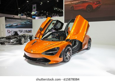 Bangkok, Thailand. 28th Mar, 2017. Mclaren on display at The 38th Bangkok International Thailand Motor Show 2017 on March 28, 2017 Nonthaburi, Thailand