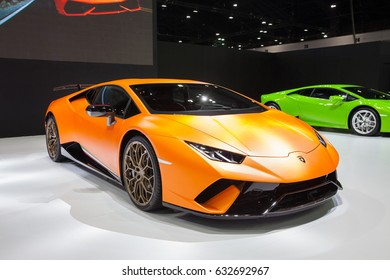 Bangkok, Thailand. 28th Mar, 2017. Lamborghini car on display at The 38th Bangkok International Thailand Motor Show 2017 on March 28, 2017 Nonthaburi, Thailand